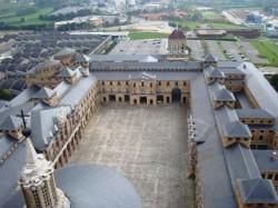 Gijón. A antiga Universidad Laboral dende a súa torre
