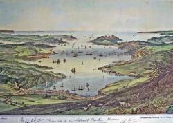 Vista de Falmouth no ano 1850