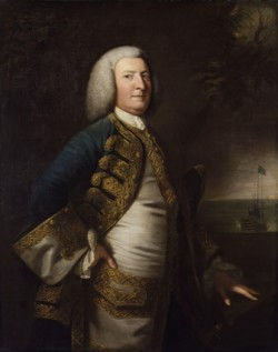 George Anson nun retrato de Joshua Reynolds
