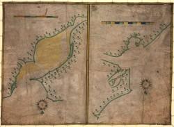 Mapa de 1589 conservado na Biblioteca do Congreso dos Estados Unidos