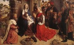 Van der Goes. Adoración dos Reis