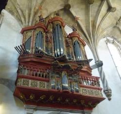 Coimbra. Igrexa de Santa Cruz. Organo barroco