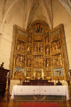 Villamediana. Igrexa de Santa Columba. Retablo maior