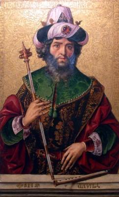 Pedro Berruguete. Rey David. Igrexa de Santa Eulalia. Paredes de Nava