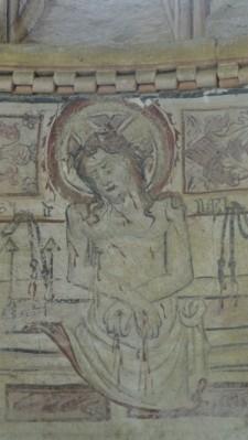 Cristo Varón de Dores. Pintura mural de Vilar de Donas