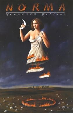Cartel de la ópera Norma por Rafal Olbinski