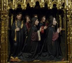 Burgos. Igrexa de San Gil. Pormenor do retablo da capela dos Reis Magos