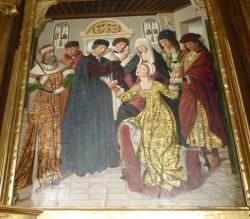 Los Balbases. Pormenor do retablo de San Esteban