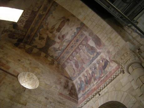 San Martiño de Mondoñedo. Pinturas románicas