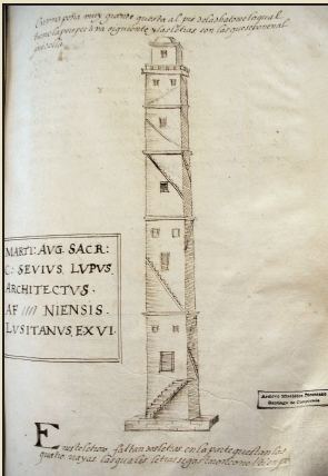 A torre de Hércules vista por Jerónimo del Hoyo