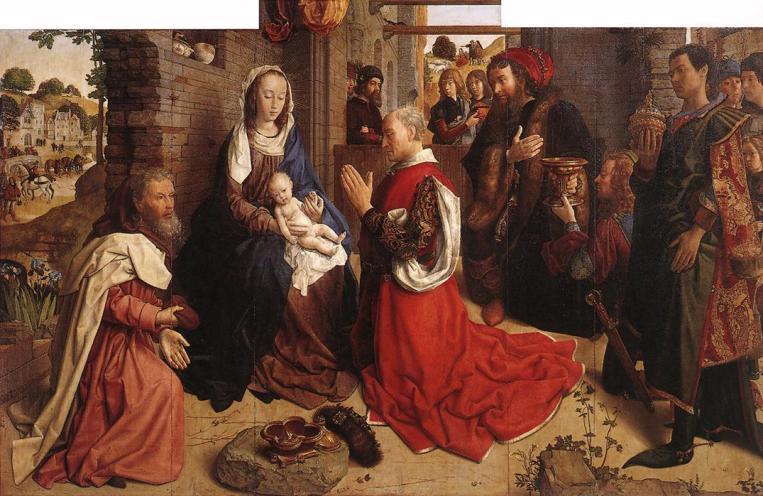 Hugo Van der Goes. Adoración dos Magos (Staaliche Museen, Berlin)