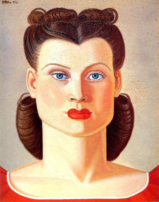 Maruja Mallo. Cabeza de muller (Museo de Bellas Artes de Santa Fe)