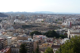 Cartagena. Cerro del Molinete desde o castelo de Santa Catalina