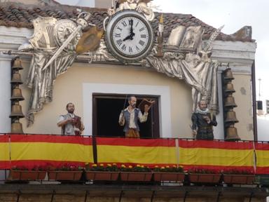 Carrillón na praza maior de Ciudad Real