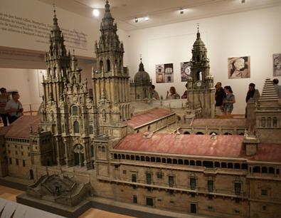Maqueta no Museo das Peregrinacións de Santiago de Compostela