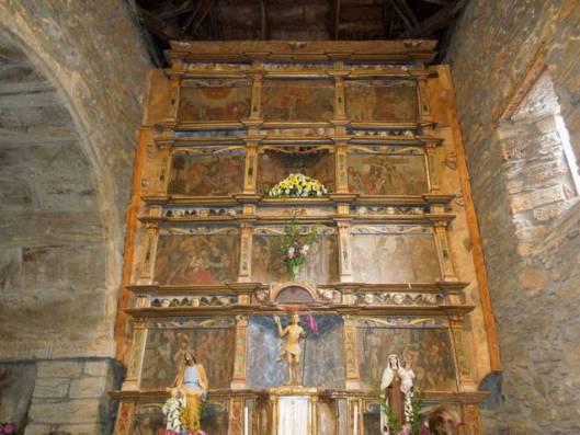 Retablo da igrexa de Santa Baia de Bendollo