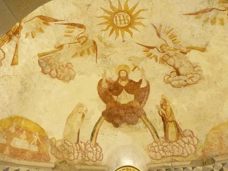 Igrexa de Berselos. Pintura mural