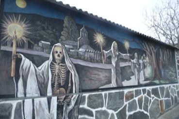 Mural de Fermín Díaz na aldea de Monseiro