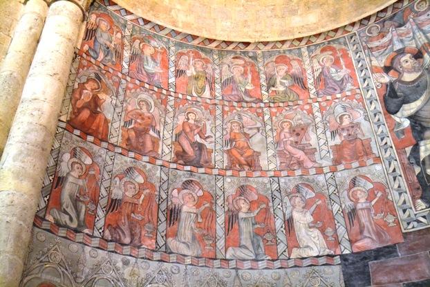 Daroca. Pinturas murais da igrexa de San Miguel