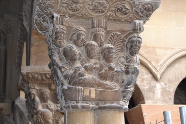 Tudela. Capitel do claustro