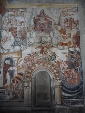 Pinturas murais da igrexa de Santa María de Pesqueiras