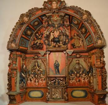 Retablo barroco en San Lourenzo de Ouzande