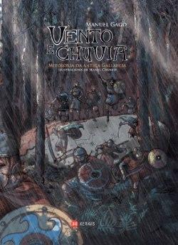 """Capa do libro """"Vento e Chuvia"""", de Manuel Gago"""