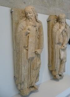 Museo de Pontevedra. Profetas procedentes da primitiva fachada do Pórtico da Gloria