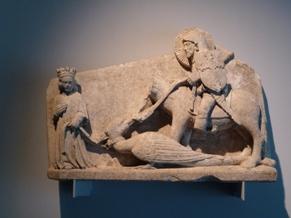 Museo de Penafiel. San Xurxo matando ao dragón