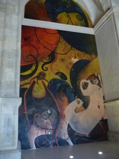 Alarcón. Pinturas de Jesús Mateo na igrexa de San Juan Bautista