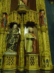 San Pedro de Moreiras. Pormenor do retablo